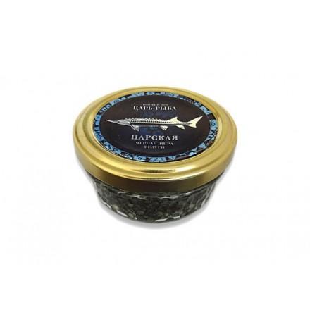 Черная икра белуги дойная непастеризованная 50г, стекло, Царь-рыба