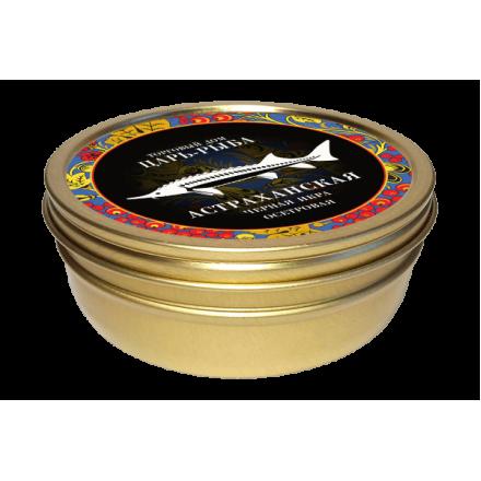 Черная икра осетровая забойная непастеризованная Астраханская 250г, жб, Царь-рыба