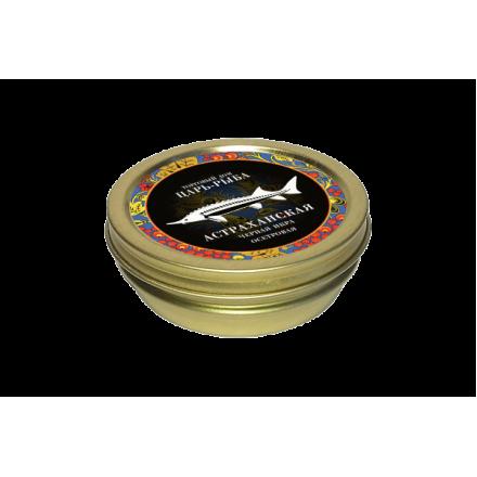 Черная икра осетровая забойная непастеризованная Астраханская 50г, жб, Царь-рыба