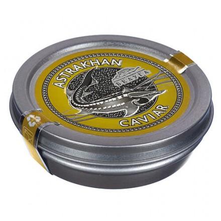 Черная икра осетровая овулированная непастеризованная 50г, жб, АРК Белуга